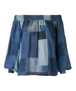 AMIR SLAMA | Off Shoulder Panelled Blouse Medium Elastodiene