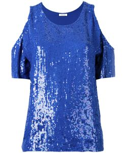 P.A.R.O.S.H. | Could Shoulder Sequin Top Medium Viscose/Pvc