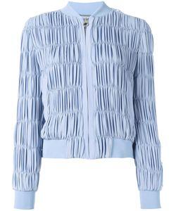 Versace | Ruched Bomber Jacket 40 Silk/Acrylic/Polyurethane/Silk