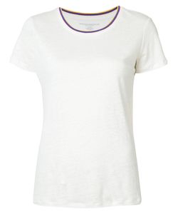 MAJESTIC FILATURES   Striped Neck T-Shirt Size 2