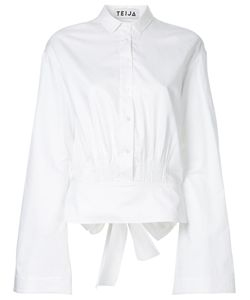 Teija | Bow Back Flare Cropped Shirt Women