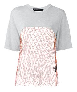 Filles A Papa | Mesh Panel T-Shirt Ii Viscose/Polyester/Sheep