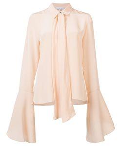 Nellie Partow | Flare-Sleeve Bow Blouse 10 Silk