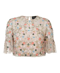 Needle & Thread | Embellished Embroidered Top Size 0
