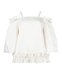 PASKAL | Ruched Blouse Medium Cotton/Spandex/Elastane