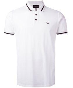 Emporio Armani   Striped Trim Polo Shirt Size Xl