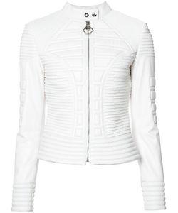 Philipp Plein | Ribbed Jacket Medium Acetate/Polyester/Lamb Skin