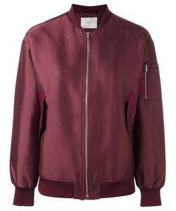 Just Female | Theory Bomber Jacket Medium Cotton/Polyester