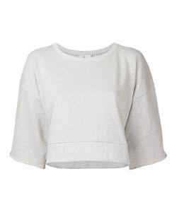 Maison Mihara Yasuhiro   Half Sleeve Cropped Sweatshirt