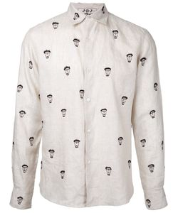 Jupe By Jackie | Face Prints Shirt Xs Linen/Flax