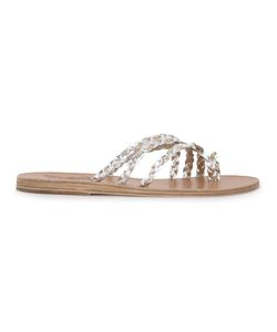 ANCIENT GREEK SANDALS | Amalia Braided Sandals 37 Leather/Rubber