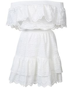 LoveShackFancy | Off Shoulder Ruffle Eyelet Dress Size 0