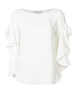 Carolina Herrera | Ruffled Sleeves Blouse 8 Silk
