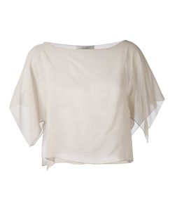 D.exterior | Semi-Sheer Cropped Blouse S
