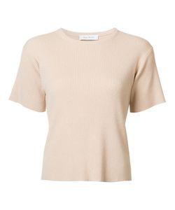 RYAN ROCHE   Ribbed T-Shirt Medium Polyester/Cashmere