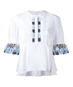 Peter Pilotto | Lace Trim Blouse 10 Cotton/Polyamide/Spandex/Elastane/Polyester
