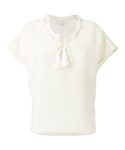 Vanessa Bruno | Lace-Up Knit T-Shirt