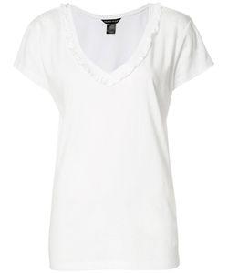 Thomas Wylde | Cindy Ruffle Trim T-Shirt Medium Cotton