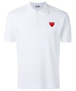Comme des Gar ons Play | Comme Des Garçons Play Embroidered Logo Polo Shirt Size Small