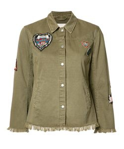 Cinq A Sept   Frayed Military Jacket Small Cotton