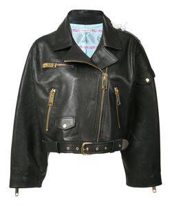 Natasha Zinko   Oversized Cropped Biker Jacket