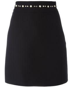 Gucci | Pearl And Stud Trim A-Line Skirt 36