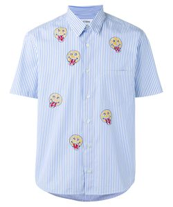 JIMI ROOS | Smiley Face Print Shirt Xl Cotton