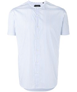 Curieux | Stripe Collarless Shirt Small