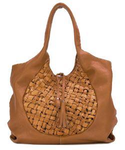 Henry Beguelin | Woven Shoulder Bag Leather/Cotton