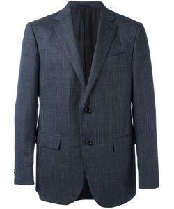 Ermenegildo Zegna | Checked Blazer 54 Wool/Cupro/Silk/Linen/Flax
