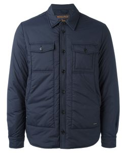 Woolrich | Button Up Padded Coat Large Polyamide/Polyester/Spandex/Elastane