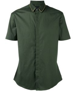 Les Hommes | Studded Collar Slim-Fit Shirt
