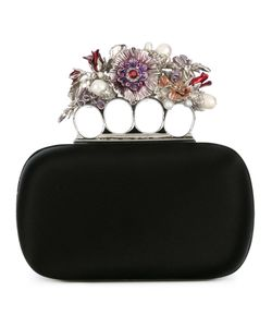 Alexander McQueen | Knuckle Flower Clutch Metal/Silk/Pearls/Glass