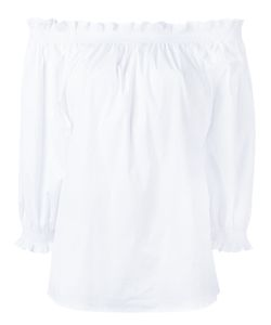 Xacus | Off-Shoulder Frill-Trim Blouse 46 Cotton/Polyamide