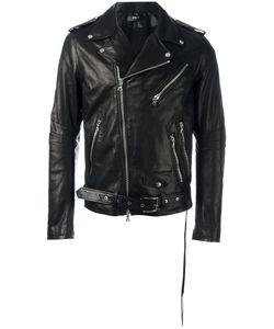 AMIRI | Zipped Biker Jacket Medium Leather/Tencel/Spandex/Elastane/Silk