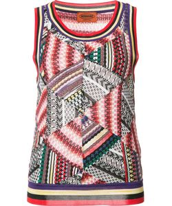 Missoni | Patchwork Knit Tank 42 Cotton/Rayon/Wool/Nylon
