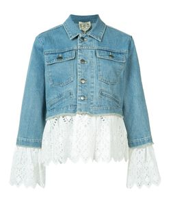Sea | Eyelet Laye Denim Jacket Medium Cotton