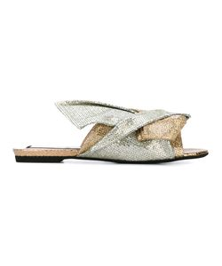 No21 | Glitter Knot Sandals Leather Fibre