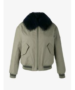 ARMY YVES SALOMON | Raccoon Fur-Trimmed Bomber Jacket 34