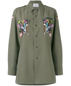 FORTE COUTURE | Eagle Embroidered Military Shirt Size 38