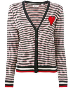 Chinti And Parker | Cashmere Jacquard Heart Cardigan