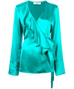 AREA | Ruffle-Front Blouse Women 34