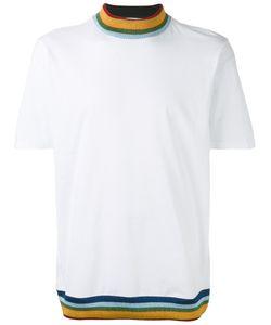 PALM ANGELS   Glittery Striped Details T-Shirt