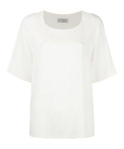 Alberto Biani | Pleated Back T-Shirt 42 Triacetate/Polyester