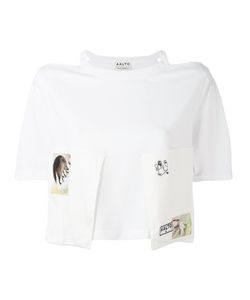 AALTO | Cut-Out Shoulders Cropped T-Shirt