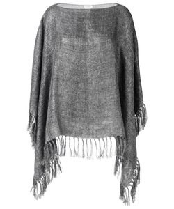 Brunello Cucinelli | Fringed Poncho Linen/Flax/Polyamide/Polyester