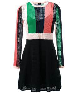 PS PAUL SMITH | Ps By Paul Smith A-Line Knitted Dress Small Cotton/Cupro