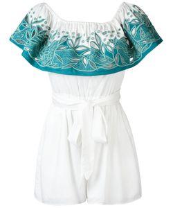 Mara Hoffman   Open Embroidery Bardot Playsuit Size Xs