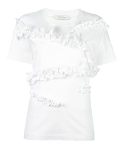 Cedric Charlier | Cédric Charlier Ruffled Panel T-Shirt 38 Cotton/Other Fibers