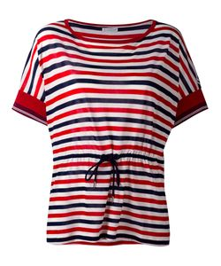Moncler | Drawstring Waist Striped T-Shirt Size Small